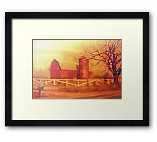 Midwest Barn Painting Framed Print