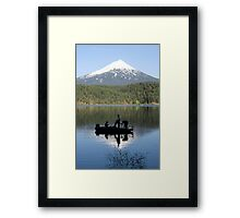Willow Lake Weekend Framed Print