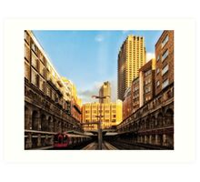Barbican Tube Station Art Print