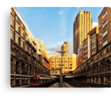 Barbican Tube Station Canvas Print