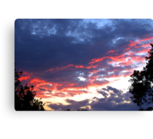 Fiery Night Sky Canvas Print