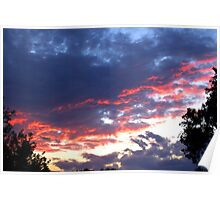 Fiery Night Sky Poster