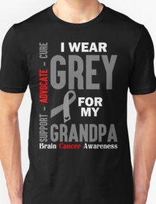 I Wear Grey For My Grandpa (Brain Cancer Awareness) T-Shirt