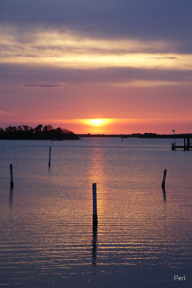 Sunrise over Misquito Lagoon by Peri