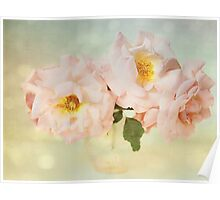 Pretty Pink Antique Roses Poster