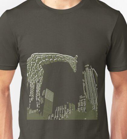Huge giraffe animal in the big city  Unisex T-Shirt