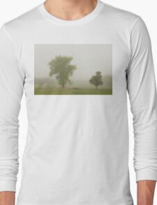 Foggy Country Springtime Morning Long Sleeve T-Shirt