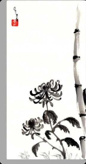 Chrysanthemum & Bamboo by Origa