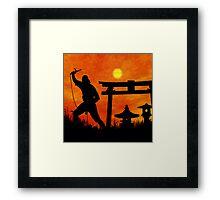Ninja on the attack Framed Print