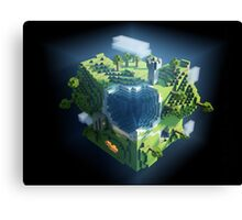 Minecraft world Canvas Print