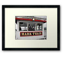 The Mark Twain River Boat Framed Print