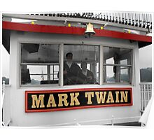 The Mark Twain River Boat Poster