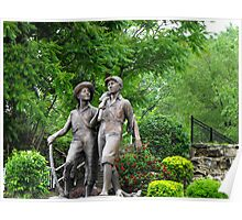 Huck Finn and Tom Sawyer Poster