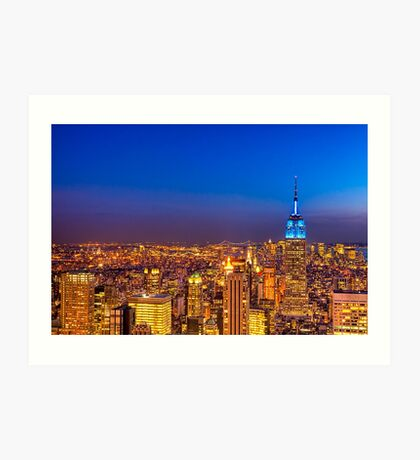 View From The Top of The Rock - New York City Art Print