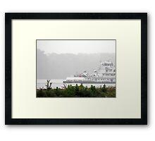 Mark Twain River Boat on the Mississippi Framed Print