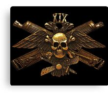 Imperial Fighter Skull w/ Crossed Machine Guns Canvas Print