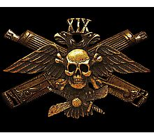 Imperial Fighter Skull w/ Crossed Machine Guns Photographic Print