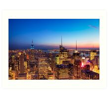 All That Glitters Is Gold - NYC Skyline Art Print