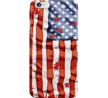 American flag with bullet holes iPhone Case/Skin
