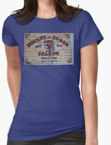 Bucket of Blood Saloon 1876 Womens Fitted T-Shirt