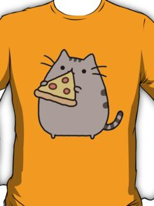 Pusheeen - Pizza T-Shirt