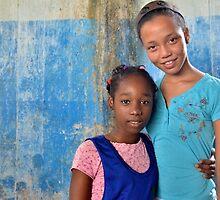 Havana - Girls in Blue by Kathleen Conklin