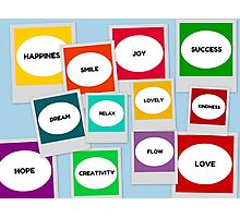 POSITIVE WORDS for inspiration  Photographic Print