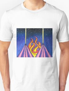 Space Pyramids by Mark Bray T-Shirt