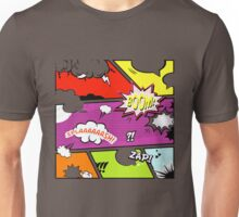 onomatopoeia boom zap splash pop art comic book  Unisex T-Shirt