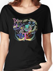 Down the Rabbit Hole - Black Women's Relaxed Fit T-Shirt