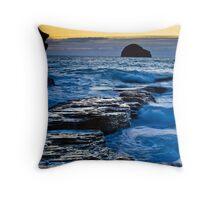 Trebarwith Strand twilight Throw Pillow