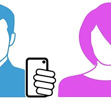 selfie love symbol icon of a self portrait for her and him photograph  by SofiaYoushi