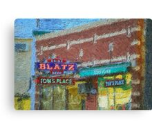 Drink Blatz Beer Canvas Print