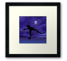Frog Jump Framed Print