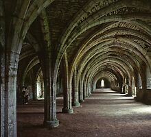 1979 Fountains Abbey by Fred Mitchell