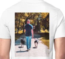 A Man and his Dogs Unisex T-Shirt