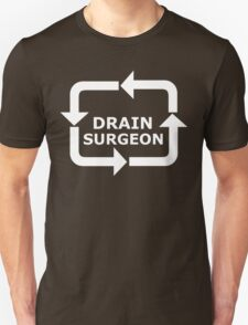 Drain Surgeon - White Lettering T-Shirt