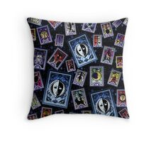 Persona Cards Scatter - Stars Throw Pillow