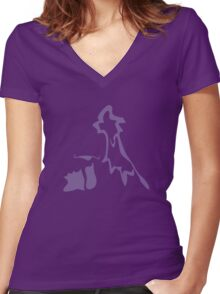 Muk Women's Fitted V-Neck T-Shirt