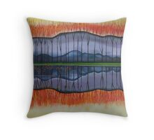 Winter's Mirror Throw Pillow