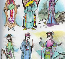 Chinese Characters ( Folkloric ) by John Dicandia  ( JinnDoW )