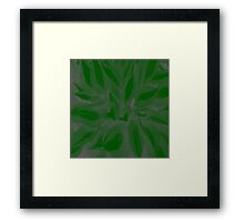 """Simply Green"" Abstract Print / Avalon Media Framed Print"