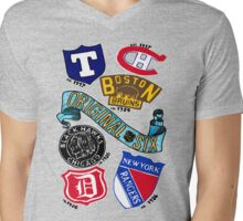 Original Six Mens V-Neck T-Shirt