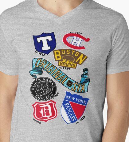 Original Six Mens V-Neck T-Shirt