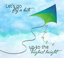 Let's Go Fly a Kite! Inspired by Mary Poppins by noondaydesign