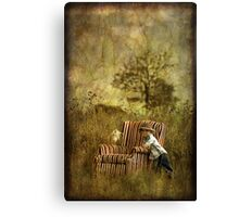 The Chair and a Boy Canvas Print