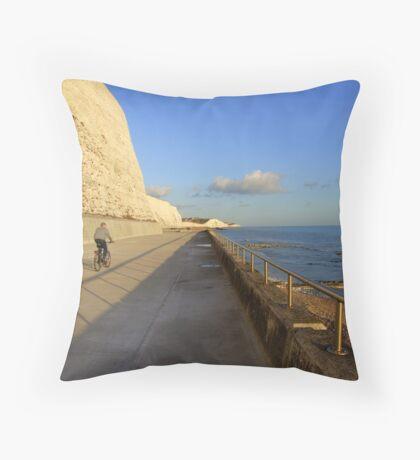 Undercliff Walk-Brighton, UK Throw Pillow
