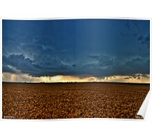 Dual Rotating Wall Clouds Poster