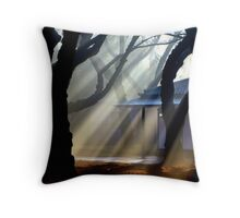 asa no kiri Throw Pillow