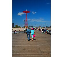 Coney Island strollers Photographic Print